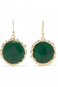 Gitana gold-tone quartz earrings