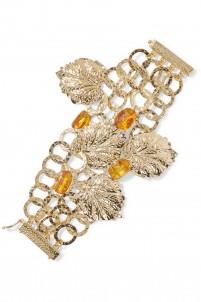 Panico gold-tone acrylic charm bracelet