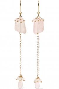 Ghiaccio gold-tone, stone and bead earrings