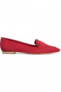 Elise suede point-toe flats