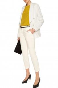 Treeca stretch cotton-blend slim-leg pants