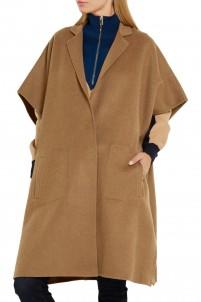 Wool-blend felt cape