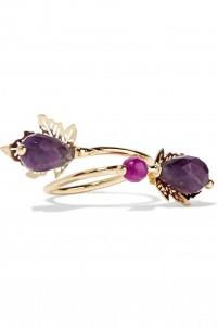 Acacia gold-tone stone ring