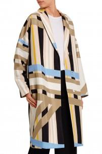 Printed crepe coat
