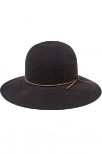 Dunaway leather-trimmed wool-felt hat