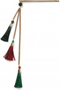 Gitana gold-tone, bead and tassel hairclip