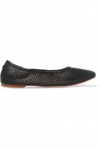 Whittaker laser-cut leather ballet flats