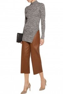 Bellisas ribbed intarsia-knit turtleneck sweater