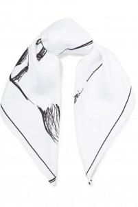 Robina printed silk scarf