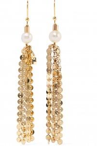 Gioia gold-tone pearl earrings