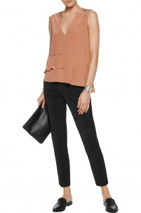Beatle cropped stretch-faille tapered pants