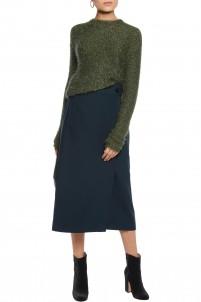 Anson stretch-crepe wrap skirt