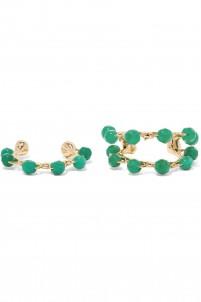 Acacia set of two gold-tone bead ear cuffs
