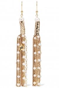 Diluvio gold-tone pearl earrings