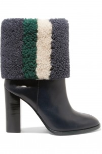 Bamford striped shearling and leather boots