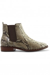 Shabba embellished snake-effect leather ankle boots