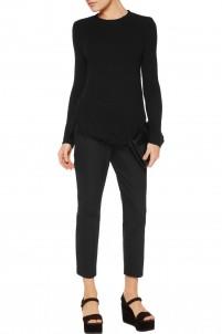 Treeca stretch cotton-blend straight-leg pants
