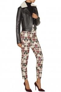 Marak printed cotton-blend corduroy skinny pants