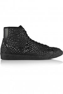 Blazer Mid Diamondback Kurim® leather high-top sneakers