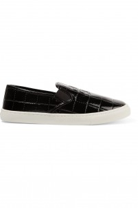 Jesse quilted patent-leather sneakers