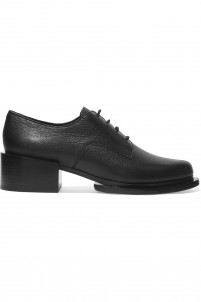 Symon textured-leather brogues
