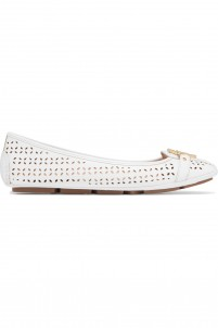 Fulton laser-cut leather ballet flats