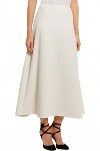 Brent textured stretch-crepe midi skirt