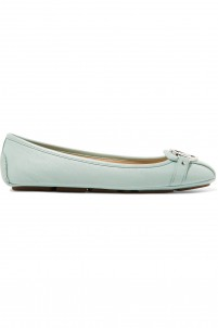 Fulton textured-leather ballet flats