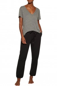 Pima cotton-blend pajama pants