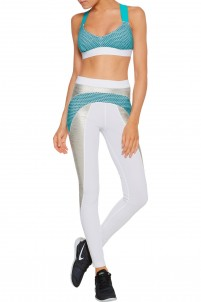 Kina color-block stretch-jersey leggings