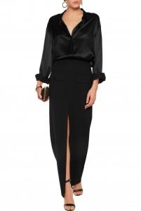 Woven maxi skirt