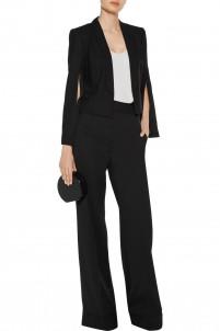 Cutout stretch-cepe blazer