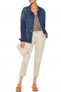 Loane cotton-twill slim-leg pants
