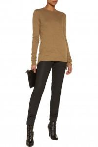 Dark Shadow coated stretch-cotton skinny pants