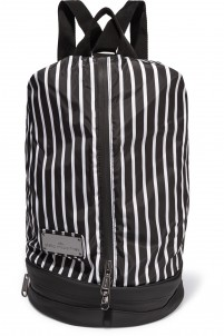 Striped shell backpack