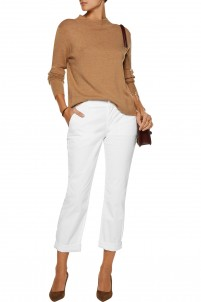 Marla stretch-cotton twill straight-leg pants