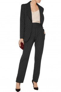 Nico striped wool straight-leg pants