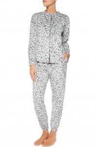 Printed fleece pajama set