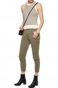 Byrnes cropped cotton-blend slim-leg pants