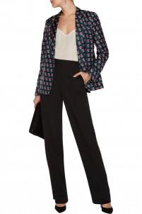 Wesley floral-print silk-twill blazer