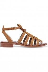Estelle fringed suede sandals