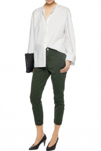 Josie cotton-blend twill tapered pants