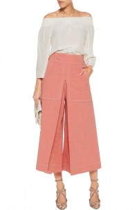 Lanai cotton-blend culottes