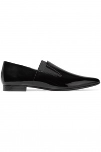 Jamie patent-leather point-toe flats