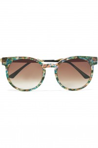 Painty round-frame acetate and metal sunglasses