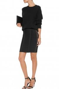 Lace-up bandage mini skirt