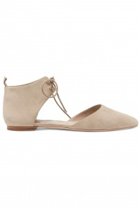 Nubuck point-toe flats