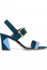 Palermo two-tone suede sandals