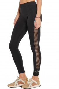 Perforated stretch-jersey leggings