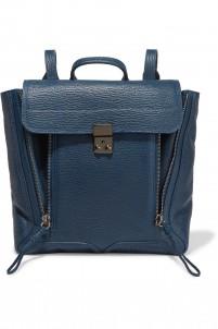 Pashli textured-leather backpack